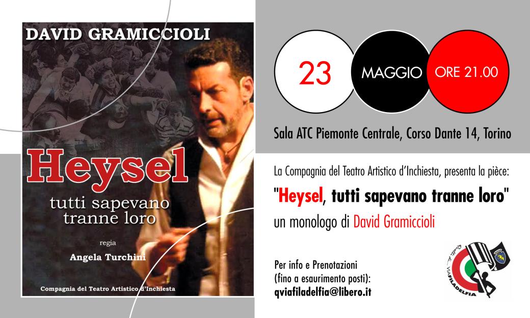 Giornata della Memoria per le Vittime dell'Heysel- Monologo Teatrale